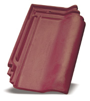 maroon roof tile